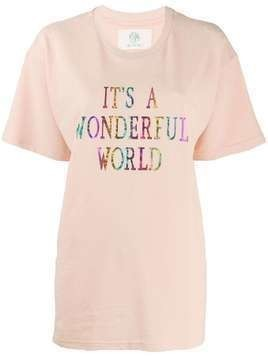 Alberta Ferretti It's A Wonderful World oversized T-shirt - Pink