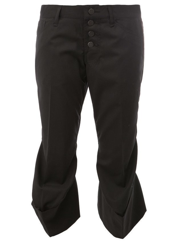 Christopher Nemeth flared hem cropped trousers - Black