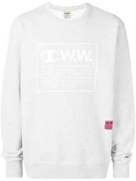 Champion X Wood Wood logo printed sweatshirt - Grey