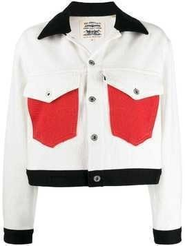 Levi's: Made & Crafted colourblock denim jacket - White