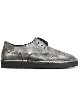Marsèll laceless brogues - Metallic