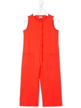 Il Gufo ruffle trim jumpsuit - Red