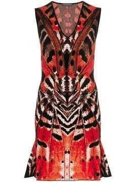 Alexander McQueen Butterfly Jacquard Mini Dress - Multicolour