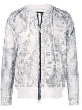 Fagassent coated bomber jacket - Grey