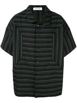 Kiko Kostadinov striped boxy shirt - Black