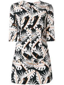 Talbot Runhof jungle print tunic - White