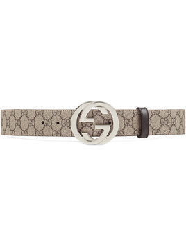 Gucci - GG Supreme belt with G buckle - Herren - Canvas/Leather/metal - 115 - Nude & Neutrals