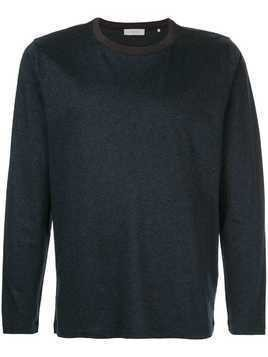 Cerruti 1881 stripe detail long sleeve T-shirt - Black