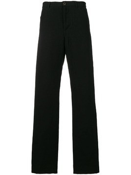 Individual Sentiments woven straight leg trousers - Black
