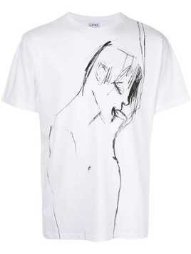 Loewe abstract man print T-shirt - White