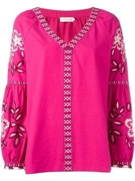 Tory Burch embroidered tunic - Pink & Purple