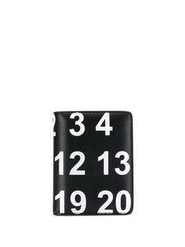 Maison Margiela number print card holder - Black