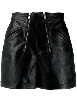 Stella McCartney faux-leather shorts - Black