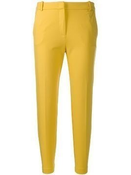 Pinko slim-fit cropped trousers - Yellow