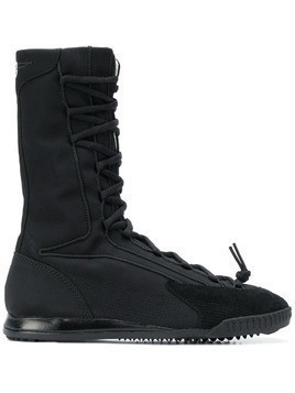 Y-3 mid-calf lace-up boots - Black