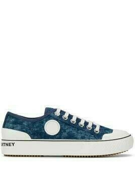 Stella McCartney denim lace-up sneakers - Blue