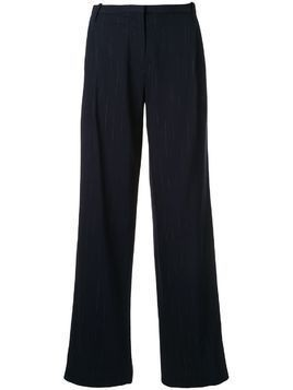 Dion Lee faded pinstrip trousers - Blue