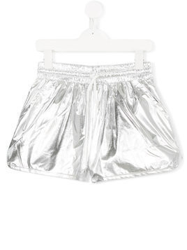 Kenzo Kids metallic fitted shorts