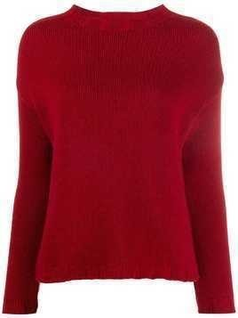 Aragona long-sleeve fitted sweater - Red