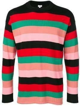 Loewe striped fine knit sweater - Red