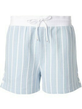 Thom Browne striped short shorts - Blue