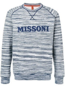Missoni logo patch sweatshirt - Blue
