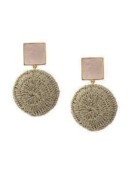 Lizzie Fortunato Jewels woven basket earrings - Gold