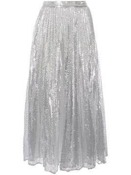 Huishan Zhang Setila sequinned pleated skirt - Silver
