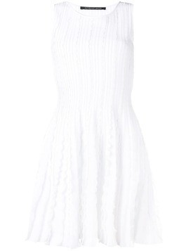 Antonino Valenti ruffle-trim midi dress - White