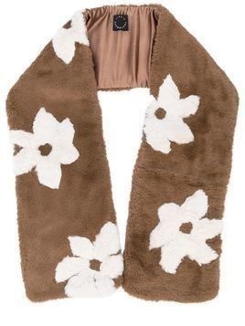Lizzie Fortunato Jewels floral print faux fur scarf - Brown