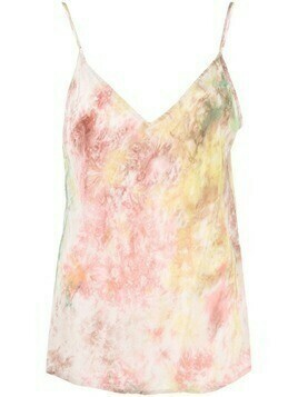 Mes Demoiselles abstract-print V-neck top - Pink
