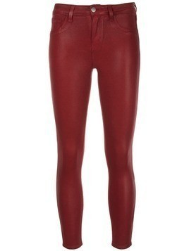 L'agence cropped skinny jeans - Red