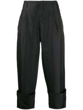Comme Des Garçons Homme Plus loose fit turn-up trousers - Black