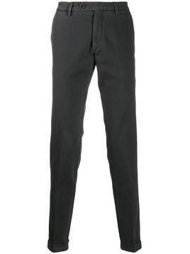 Al Duca D'Aosta 1902 turned hem trousers - Grey