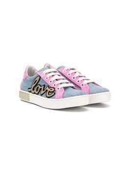 Am66 TEEN Love colour-block sneakers - Blue