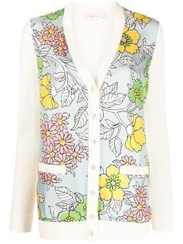 Tory Burch floral knit cardigan - Neutrals