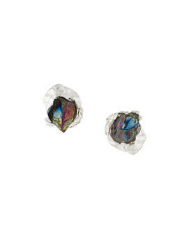 Niza Huang Crush Stone stud earrings - Metallic