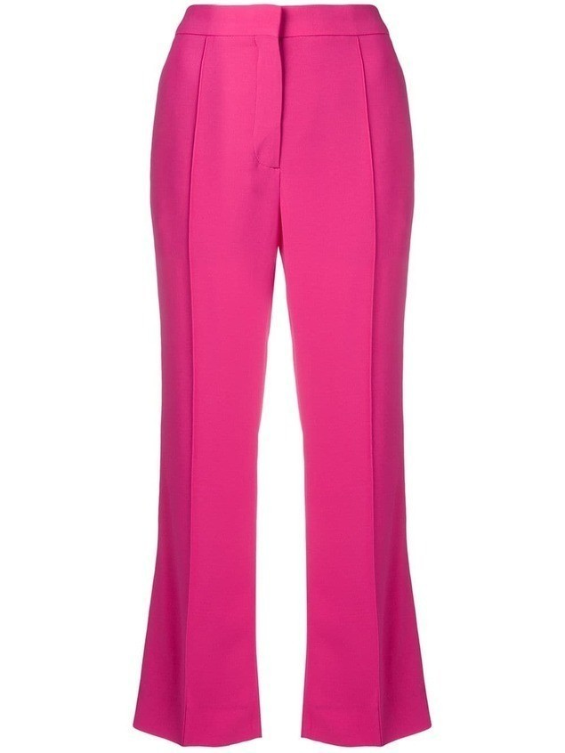Rochas cropped flared trousers - Pink