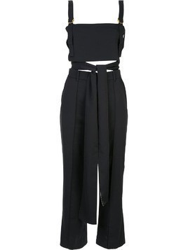 Loveless crop top and trousers set - Black