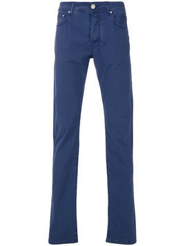 Jacob Cohen - straight leg trousers - Herren - Cotton/Elastodiene/Polyester - 30 - Blue