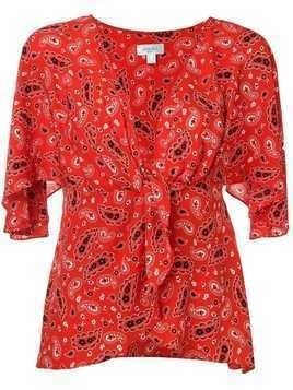 Jovonna paisley print blouse - Red