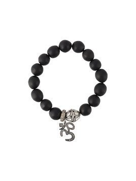Gemco diamond charm bead bracelet - Black