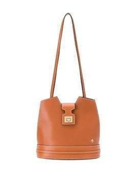 Manu Atelier Paris logo bucket bag - Brown
