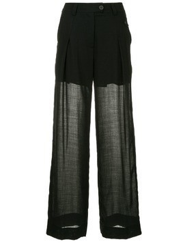 Isabel Benenato wide leg trousers - Black
