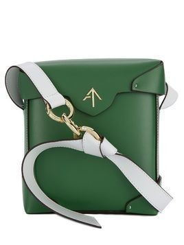Manu Atelier logo plaque box bag - Green