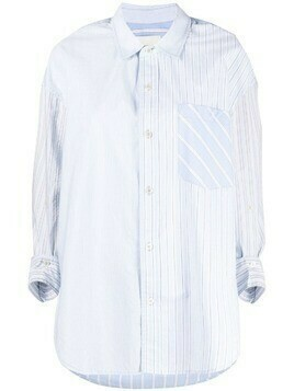 Citizens of Humanity stripe-sprint cotton-blend shirt - Blue