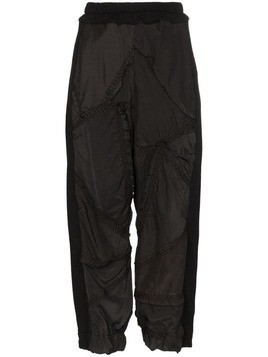 By Walid Sergio cropped trousers - Black