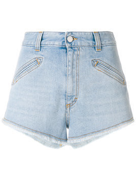 Fiorucci frayed hem denim shorts - Blue