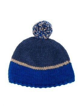 Pero Kids striped beanie hat - Blue