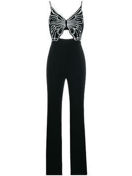 David Koma butterfly-motif jumpsuit - Black